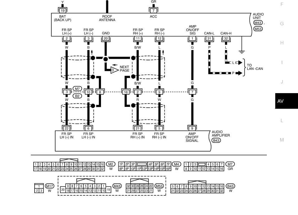 04 Nissan Titan Rockford Fosgate Color Wiring Diagram