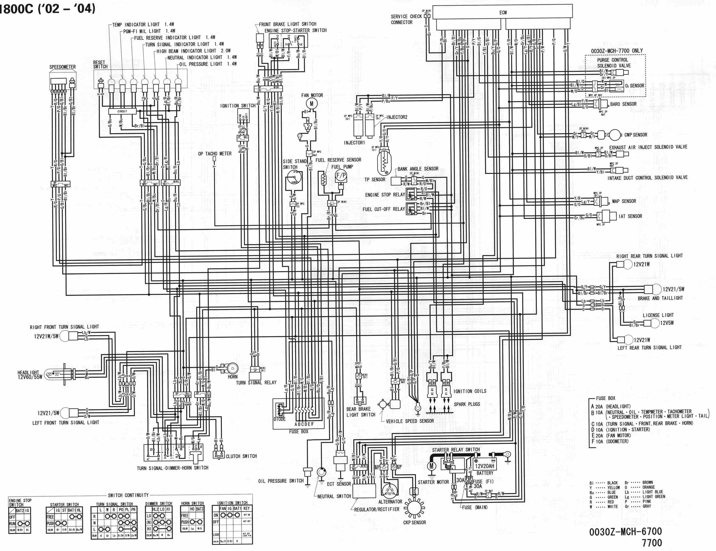 05 Honda Vtx Headlight Wiring Diagram
