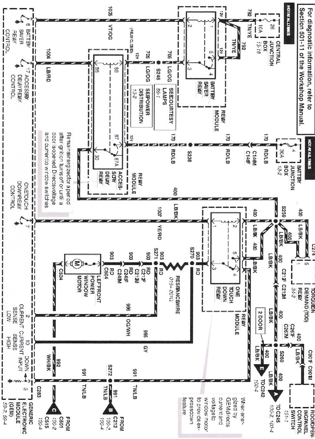 Mercury Mystique Radio Wiring Diagram