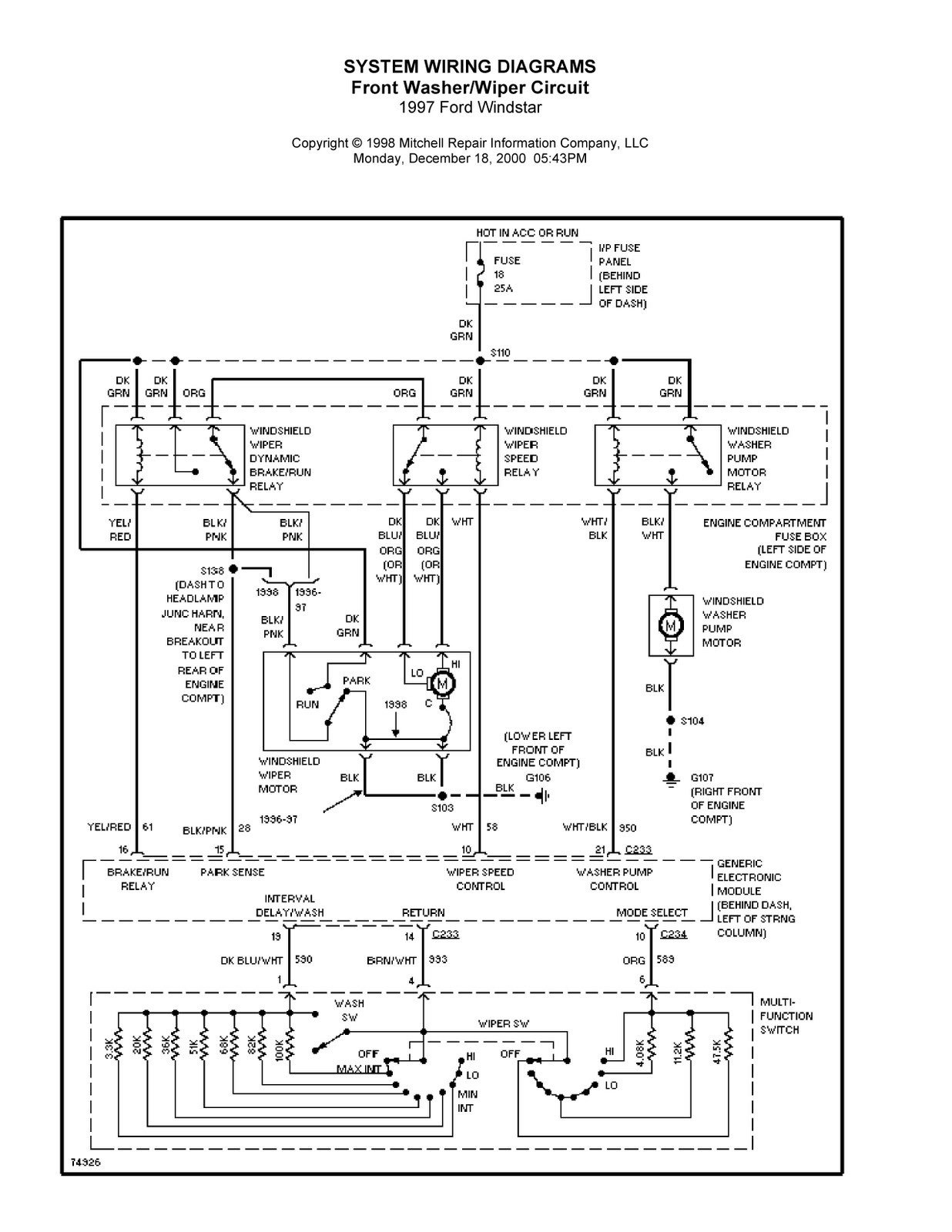 Ford Windstar 3 8 Coil Pack To Engine Wiring Diagram