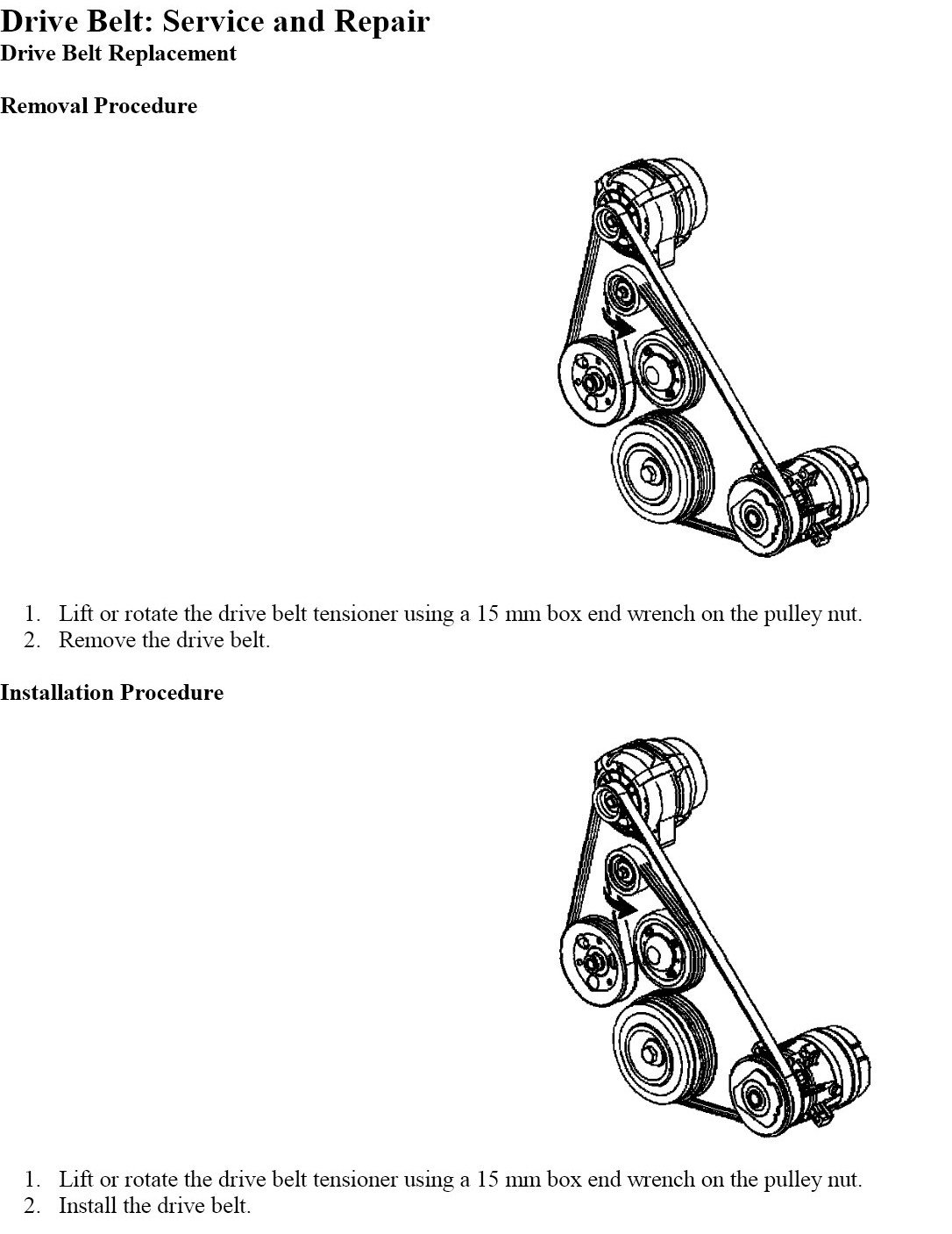 Pontiac G6 Serpentine Belt Diagram