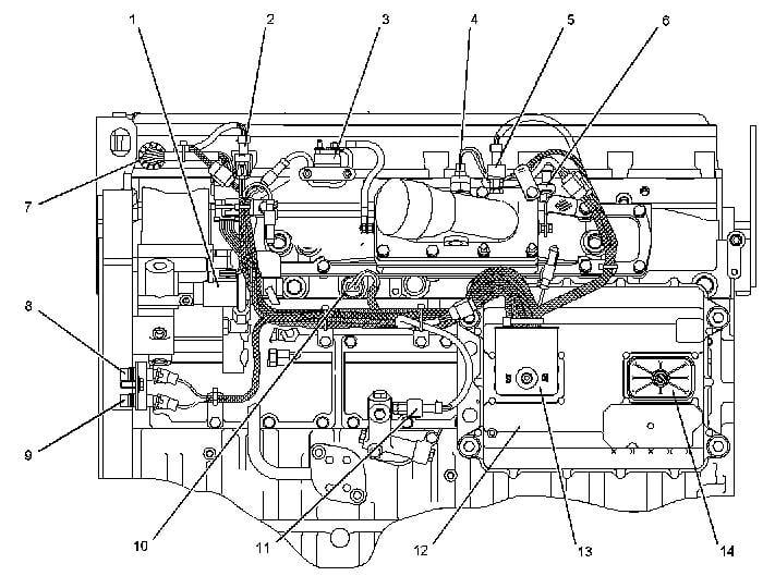 Caterpillar 3126 Engine Wiring Diagram : D330 D333 3304