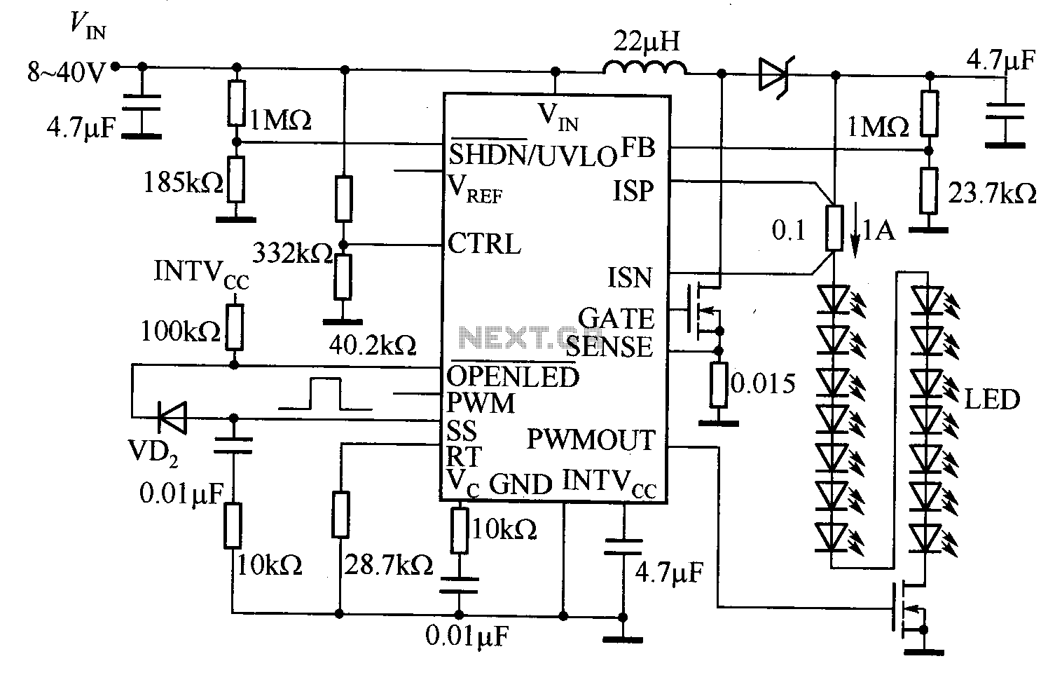 50w Led Driver Circuit Diagram
