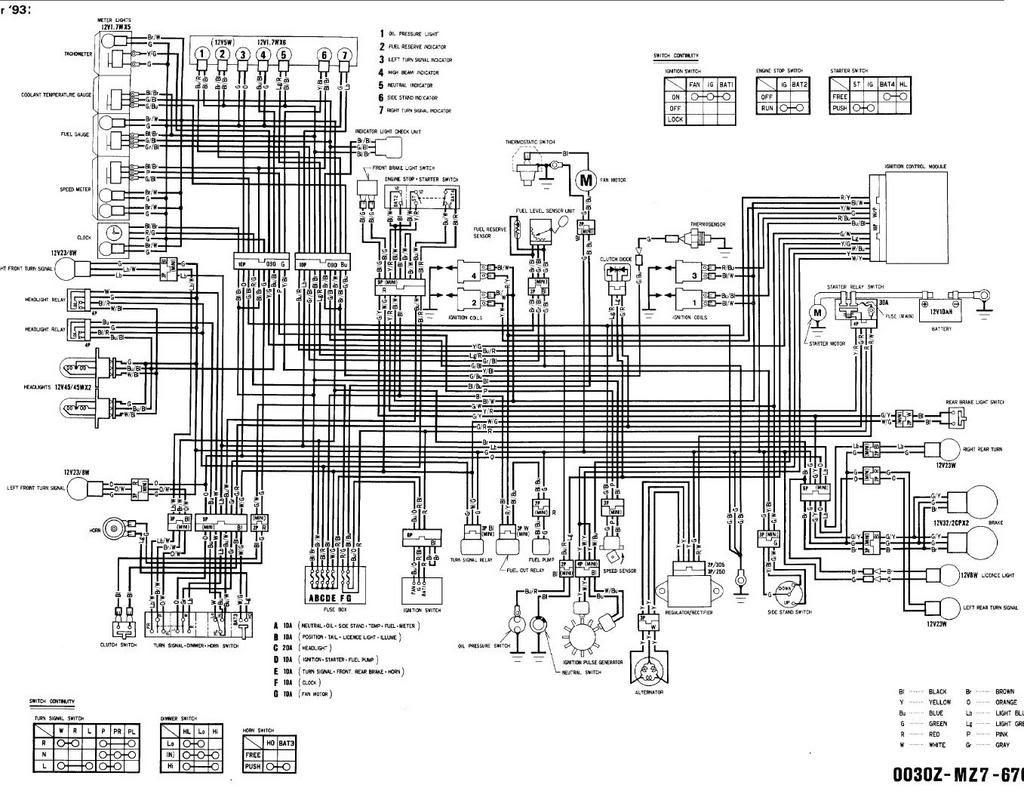 90 93 Yamaha Sj650 Wiring Diagram