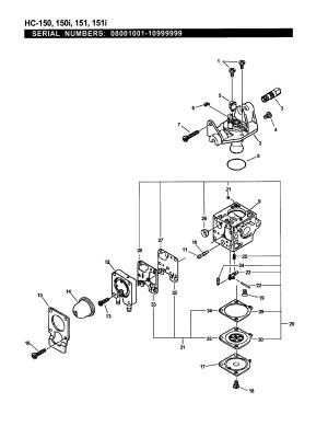 Echo Gt200r Carburetor Diagram