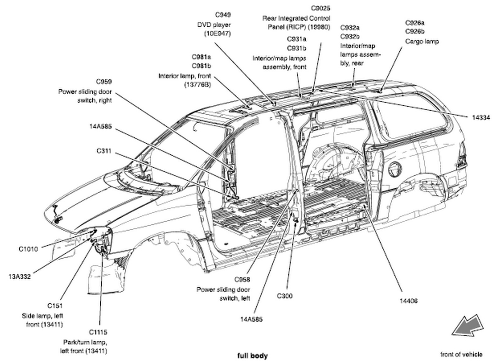 Ford Windstar Amp Freestar Thru Wiring Diagram
