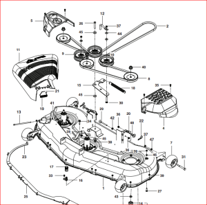 Husqvarna Yth2348 Drive Belt Diagram