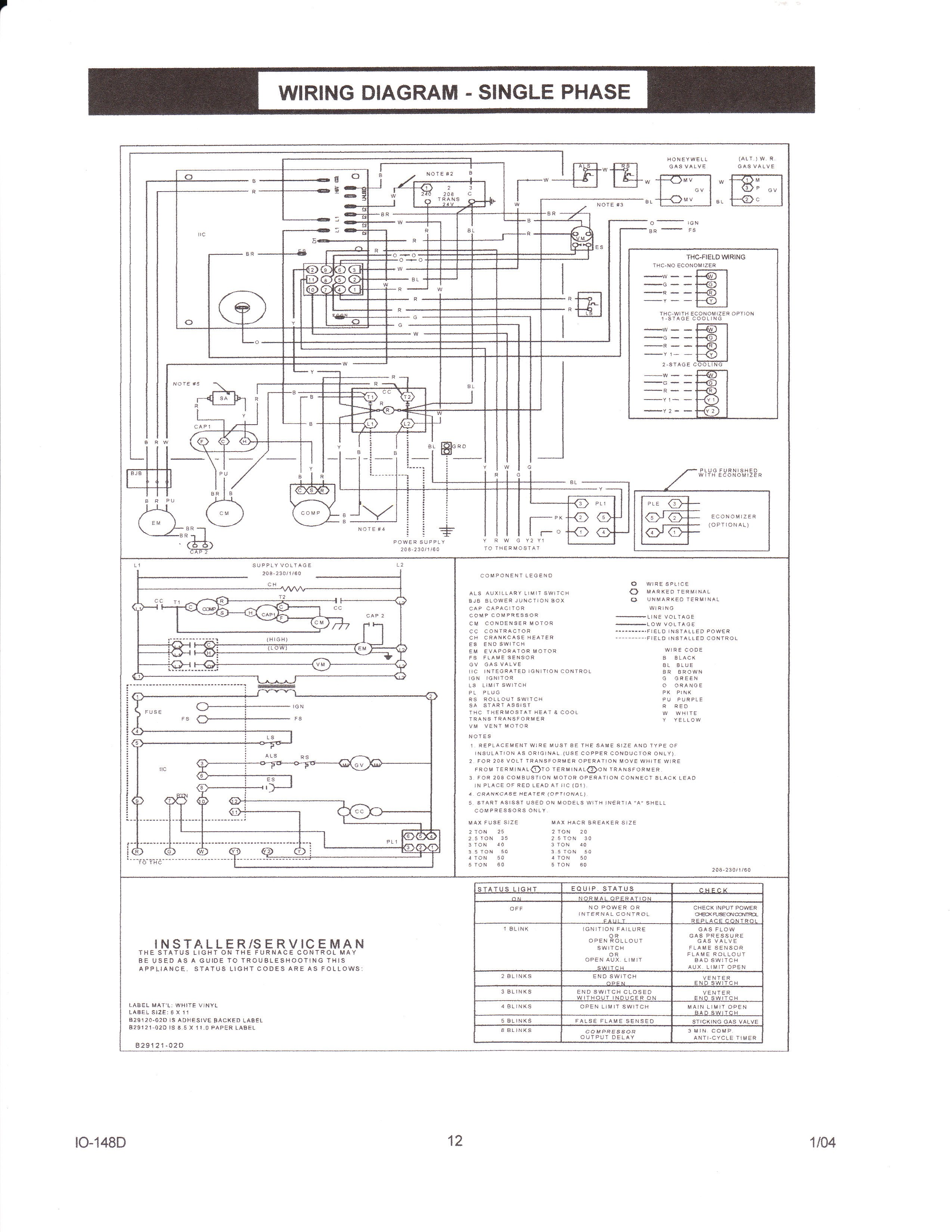 Janitrol Furnace Wiring Diagram