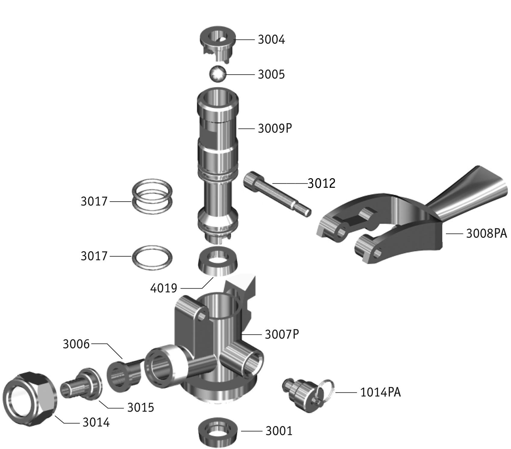 Keg Coupler Parts Diagram