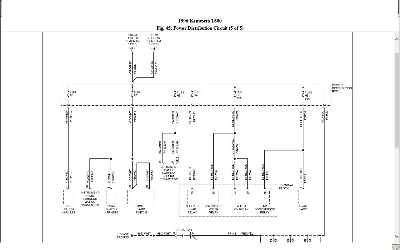 Kenworth W900 Hotline Wiring Diagram