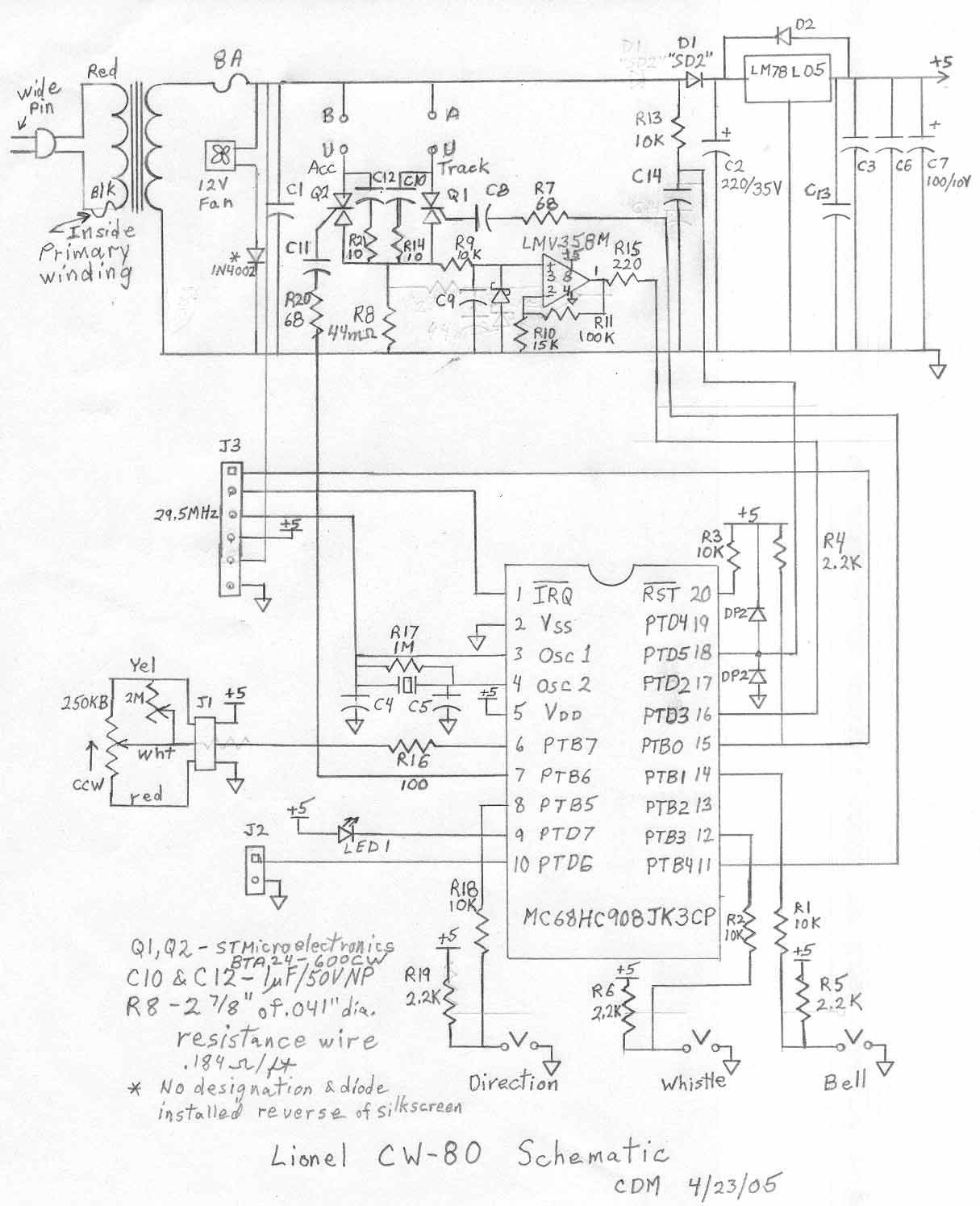Lionel Transformer Wiring Diagram