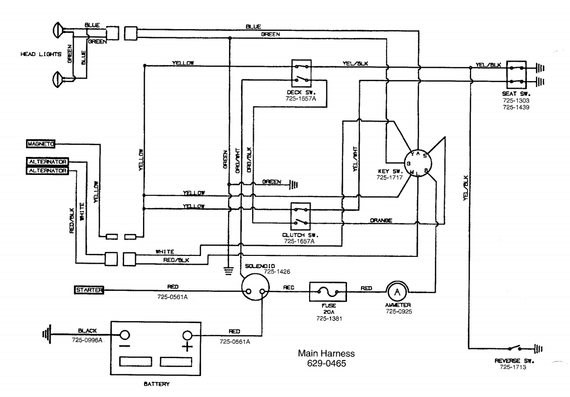 Mtd Yard Machine Wiring Diagram 13af675g062