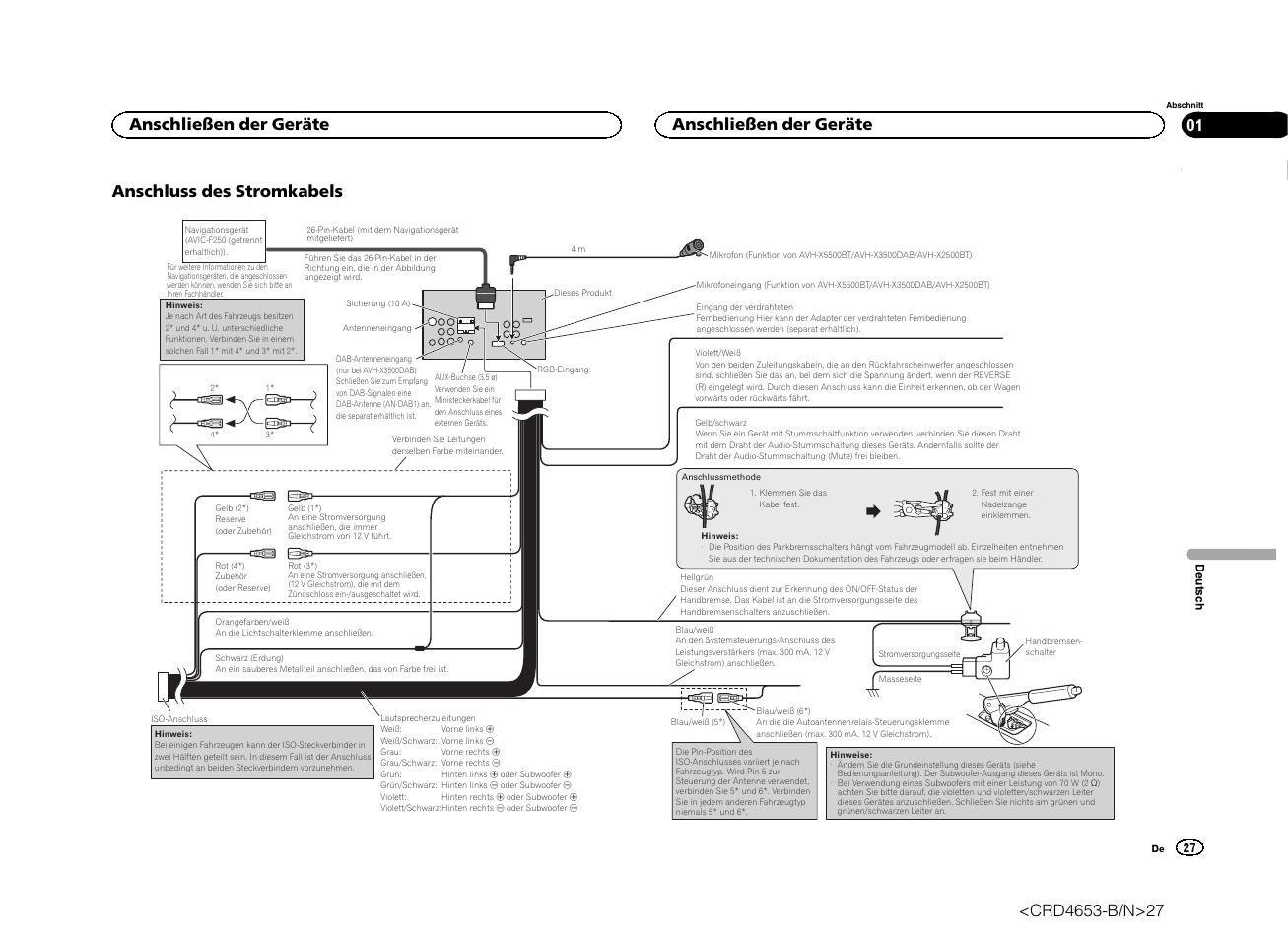 Pioneer Avh X Wiring Diagram