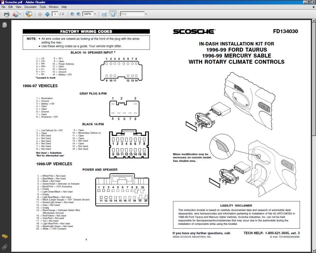 Scosche Sebring Wiring Diagram