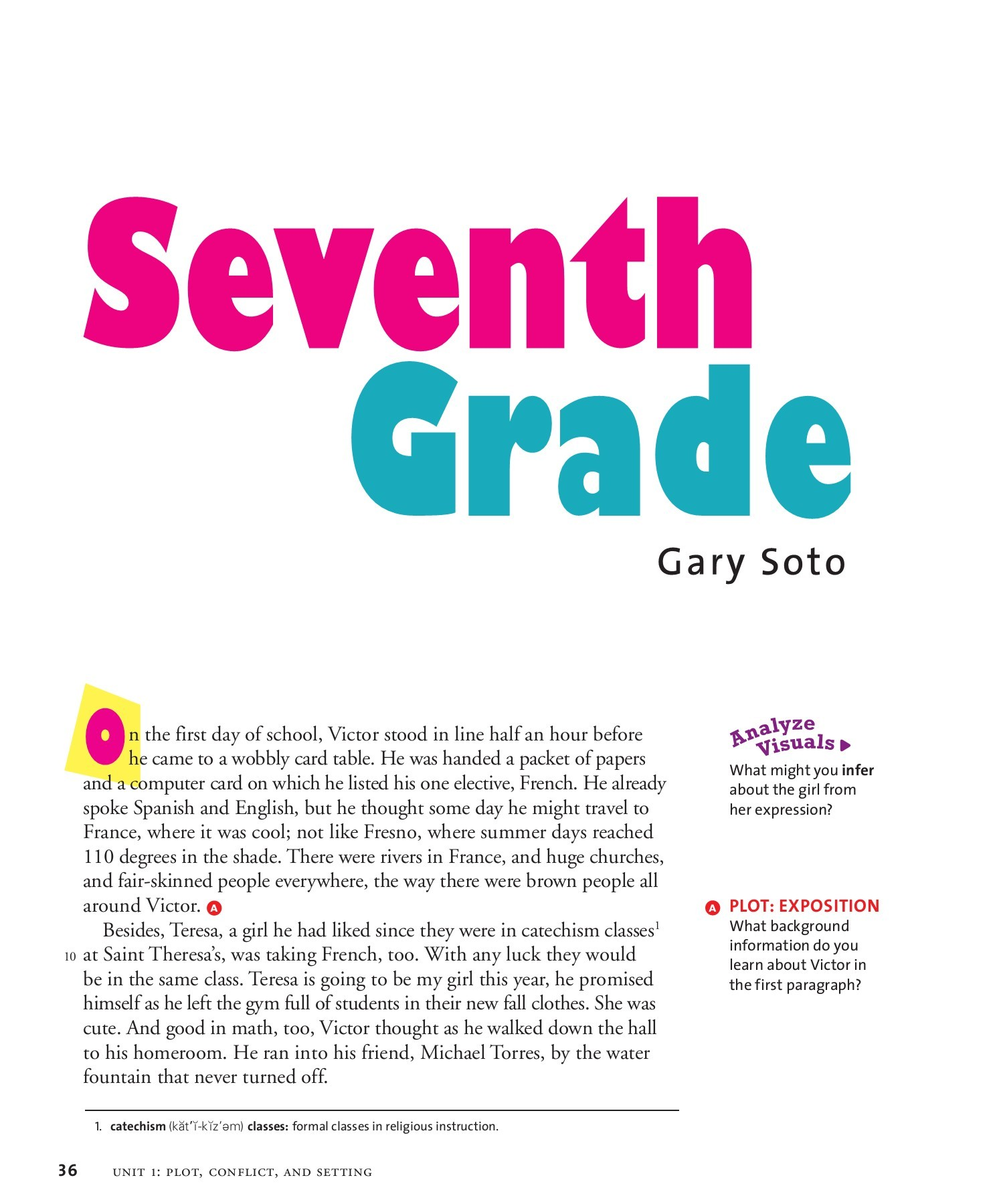 Seventh Grade By Gary Soto Plot Diagram