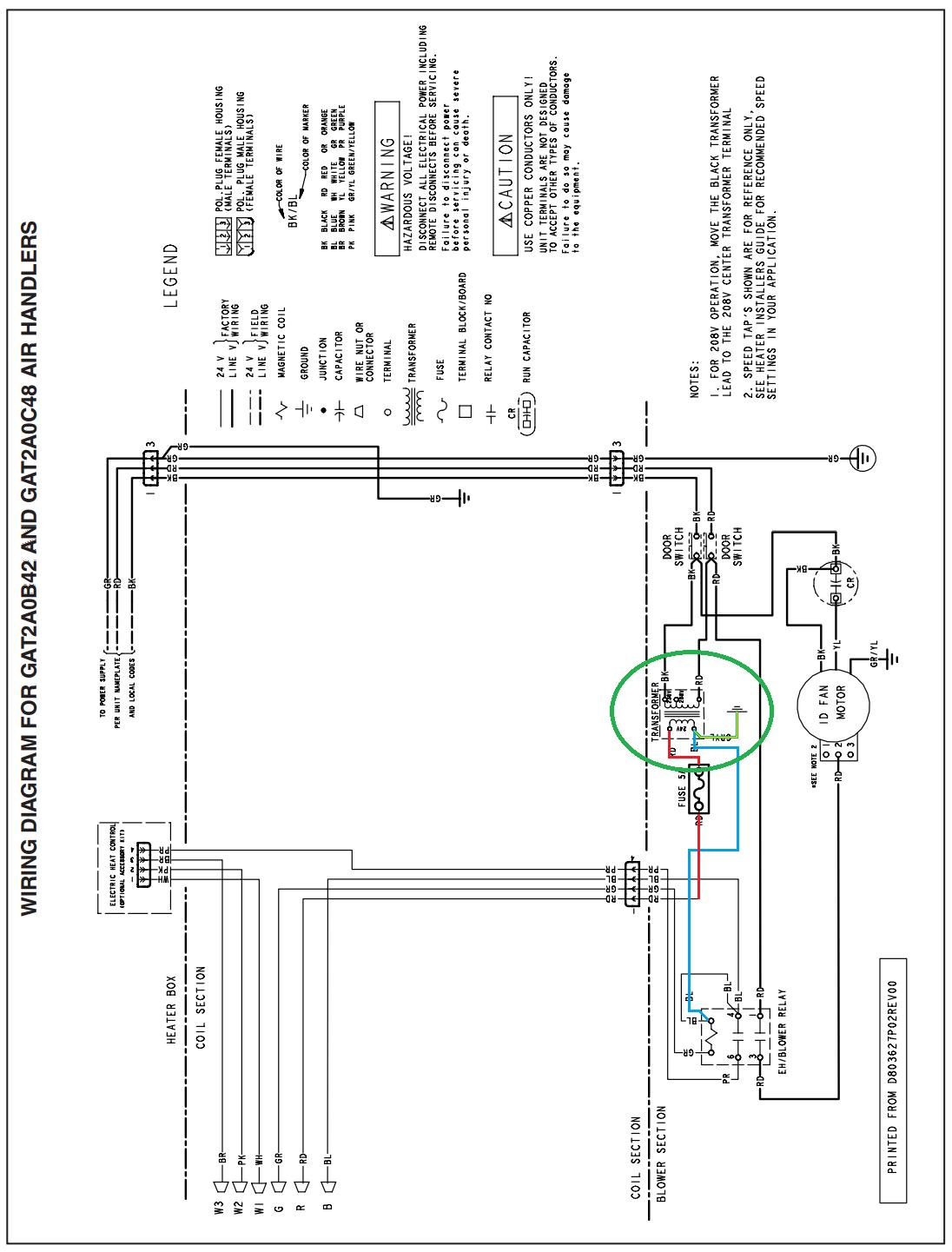 Trane 4tee3f49b Aa Wiring Diagram
