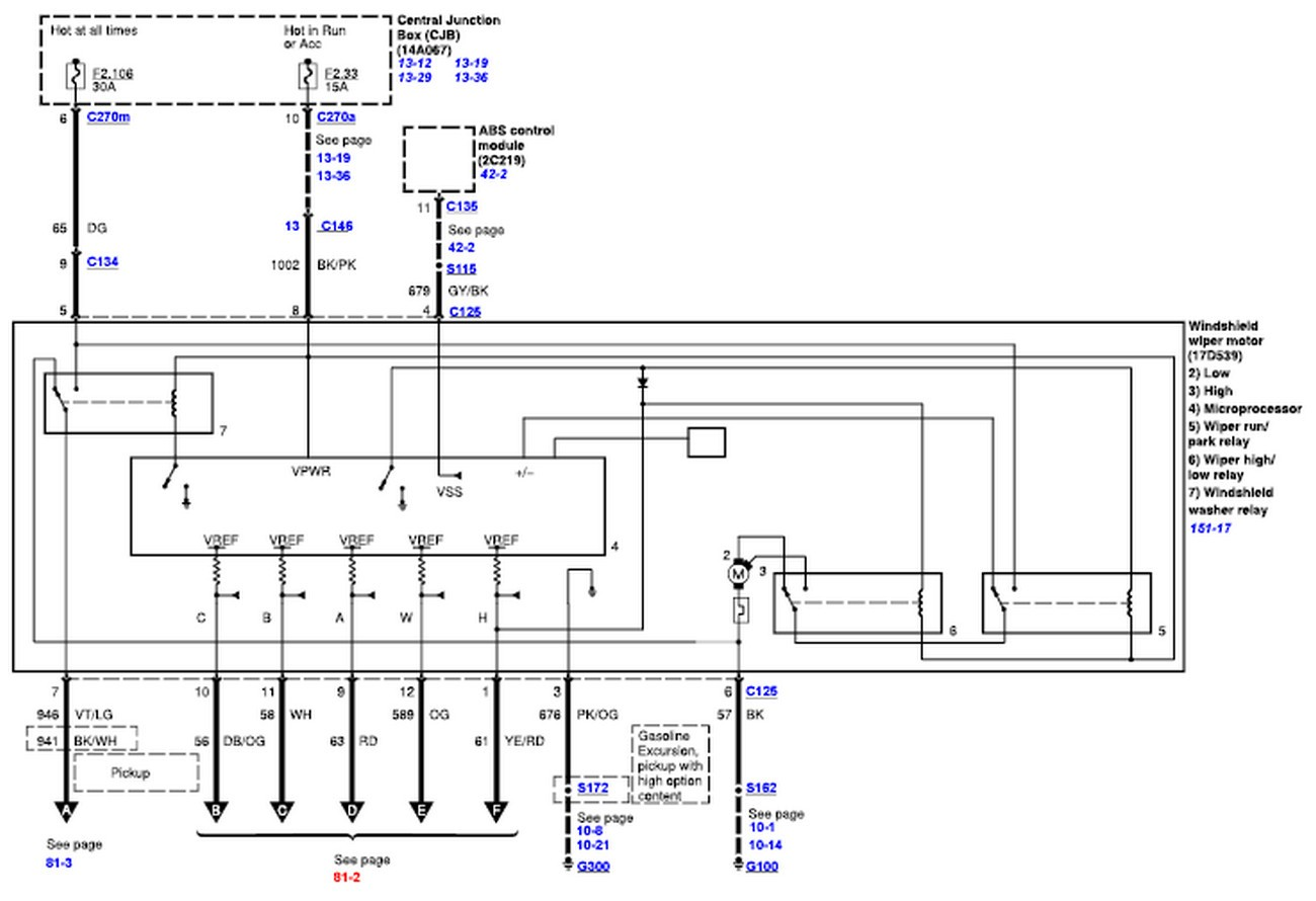Wiper Motor Wiring Diagram For Ford F350