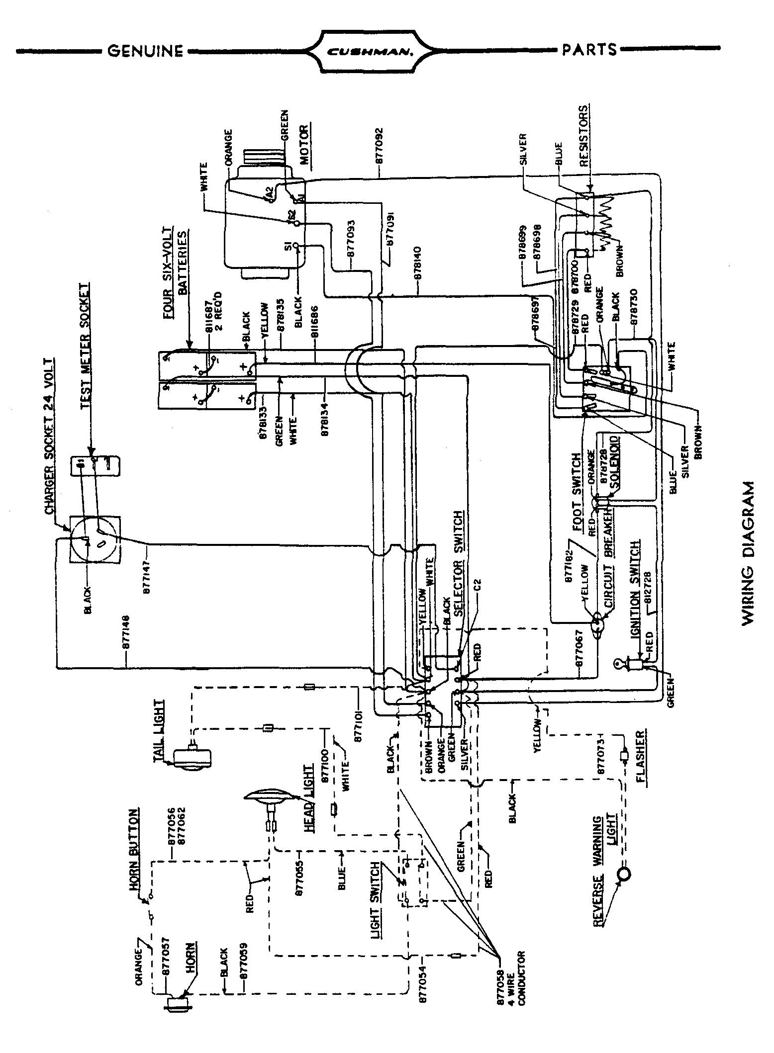 Wiring Diagram For Cushman Golf Cart