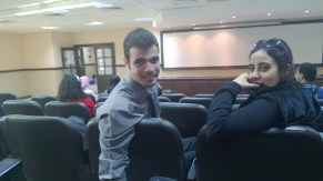 Early to a lecture...