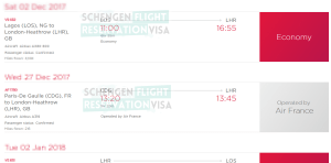 Flight Itinerary Sample and Guidance on Verify Flight Reservations Image 2