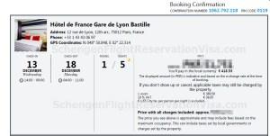 Hotel Bookings For Visa Application Sample