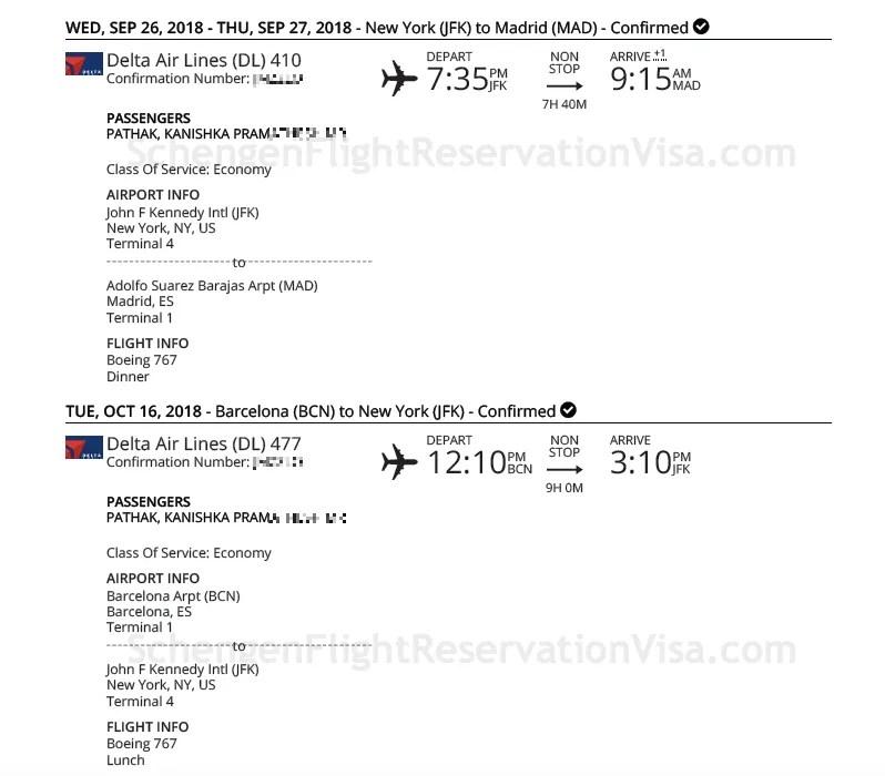 Delta Airlines Official Flight Reservation Sample Travel