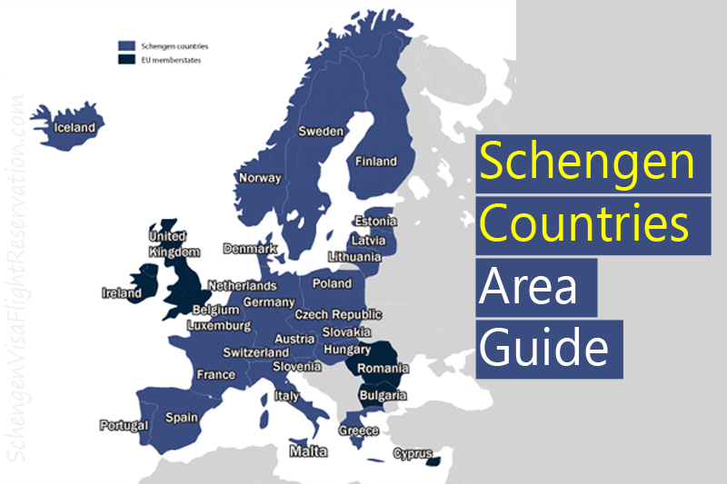 Detailed Guide on the Schengen Countries Area with Schengen Map