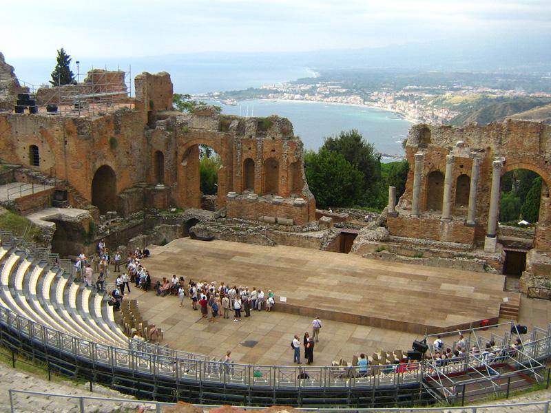 Top 10 Places to Visit in Italy Teatro Antico di Taormina in Sicily