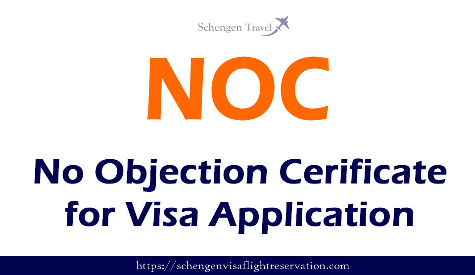 No objection Certificate for visa