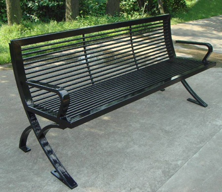 steel roundabout garden bench Faldo, FABB and FABLB, Steel Benches