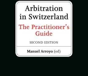 Neuerscheinung: Arbitration in Switzerland