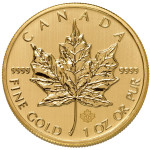 gold canadian maple leaf - back - buy online