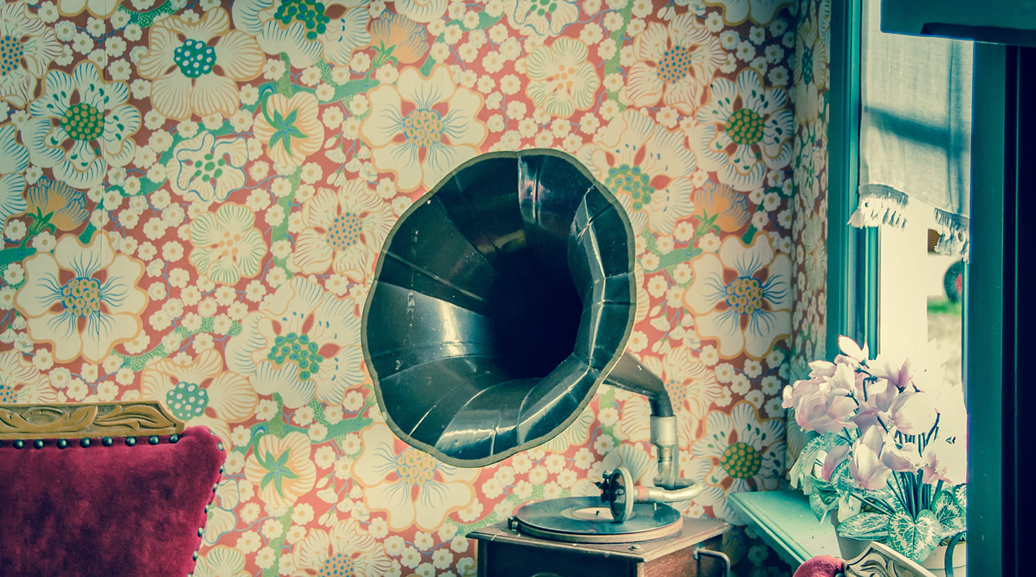 brown-and-black-gramophone-594388
