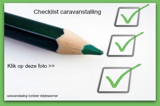 checklist caravanstalling