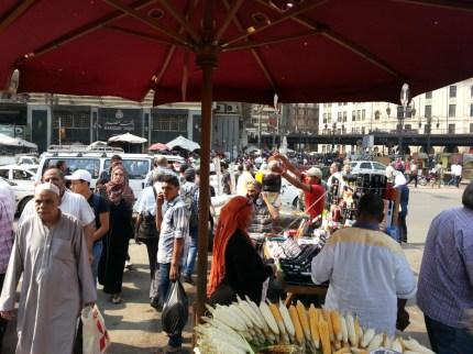 Markt und Strassenüberquerung