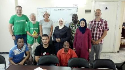 Bei einem Projekt der psycho-sozialen Betreuung von Flüchtlingen für Flüchtlinge