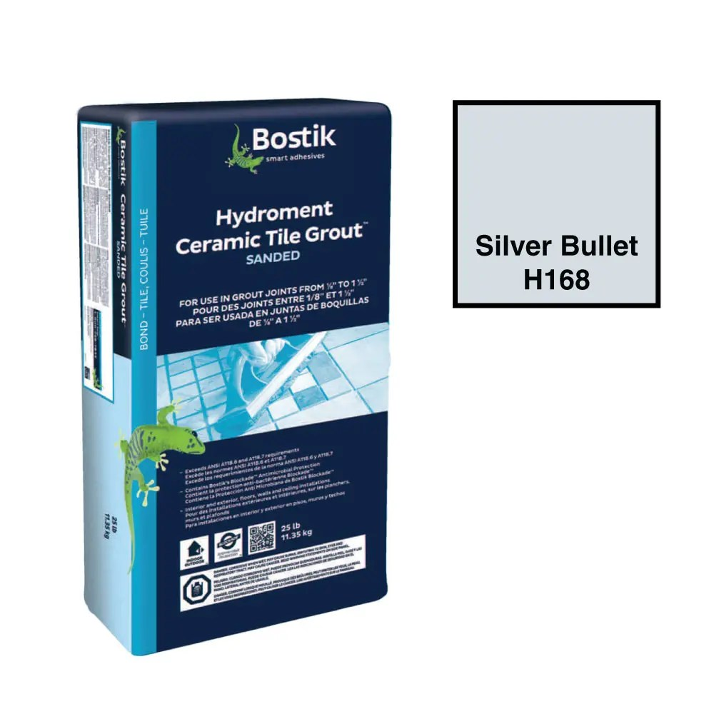 bostik dry sanded grout silver bullet 25 lbs