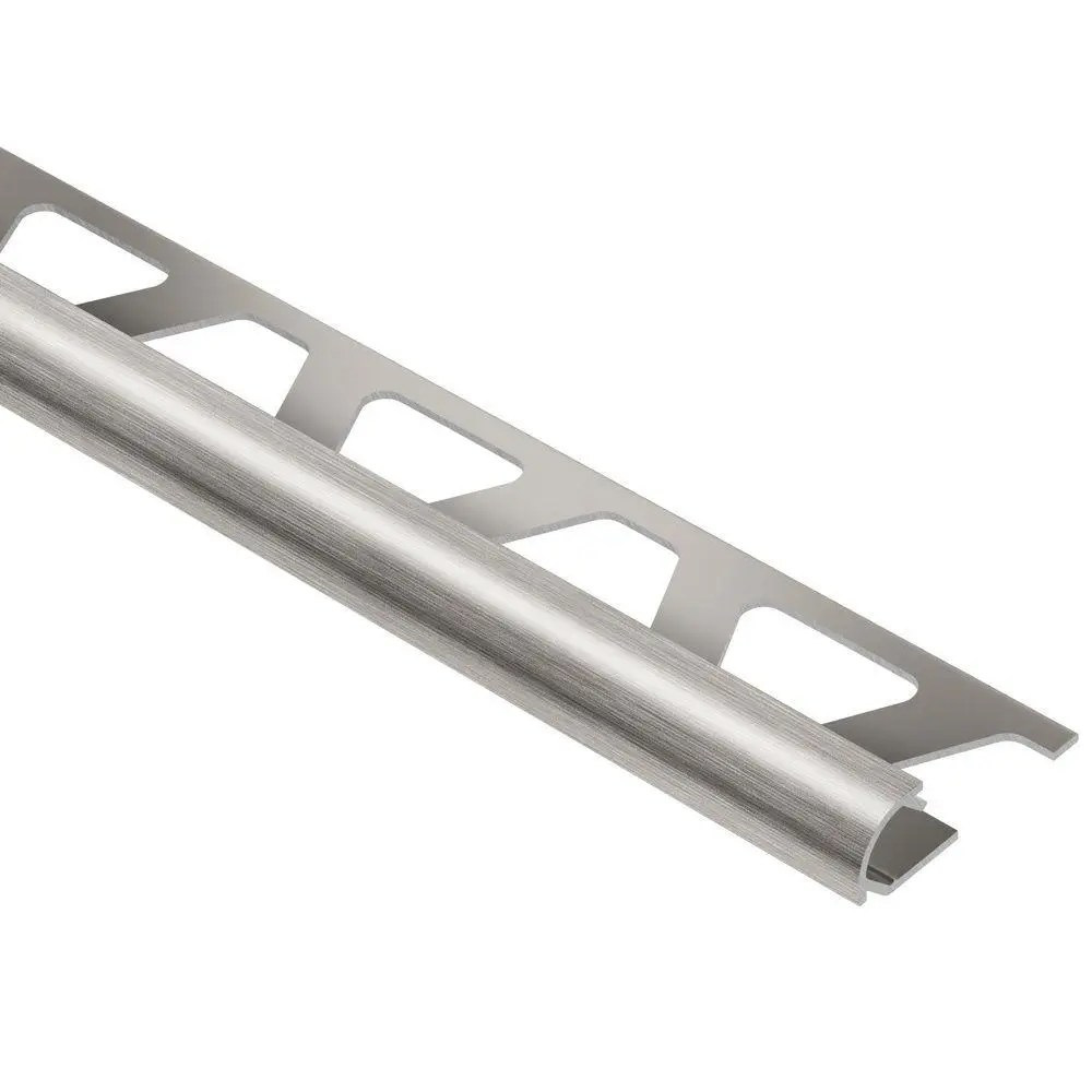 schluter systems metal bullnose tile edging trim rondec 3 8 brushed nickel