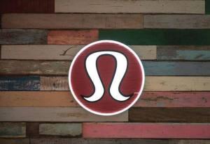 lululemon store sign logo