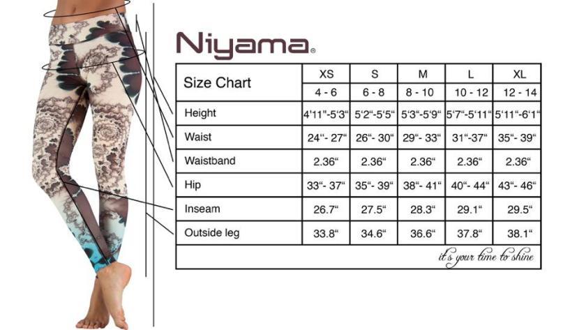 niyama sports size chart
