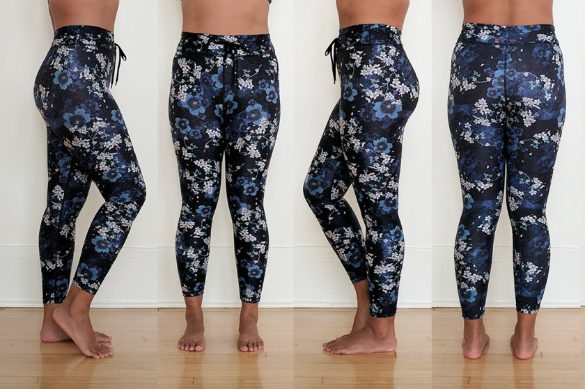 the upside midi pant cherry blossom try on
