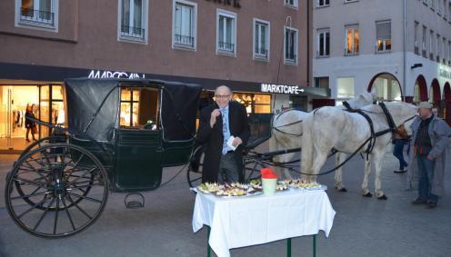 """Dr. Gerhard Führer bei der Abendveranstaltung """"Schimmel live"""" - Bild: peridomus.de"""