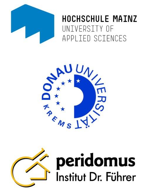 Credits: Hochschule Mainz, Donau Universität Krems, Sachverständigen-Institut peridomus