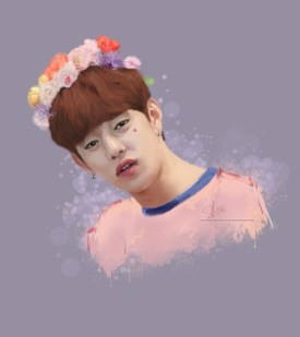daehyun flower crown finished