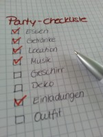 Schlagerparty Checkliste