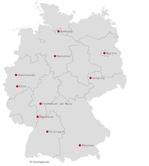 Die Veranstaltungsorte der Schlagernachtsaison 2016/2017