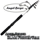 Angel Berger Black Fighter Tele Teleskoprute Spinnrute (2.40m) -