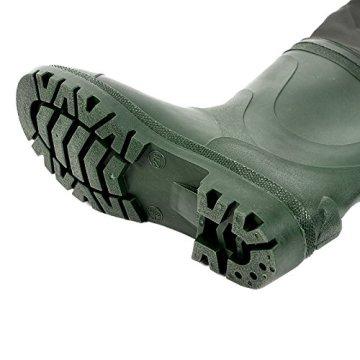 Angelhose PVC Wathose Teichhose mit Stiefel Schuhe dunkel gruen?wasserdichte 43 -