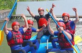 Geschenkgutschein: Rafting im Eiskanal Augsburg -
