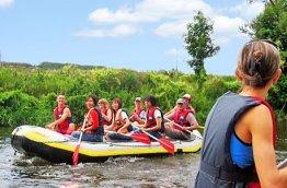 Geschenkgutschein: Schlauchboot Expedition auf dem Rhein -
